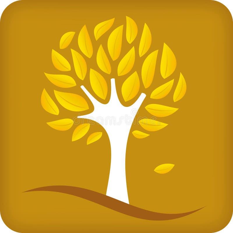 金黄结构树向量 皇族释放例证