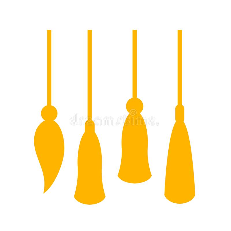 金黄缨子传染媒介象 向量例证