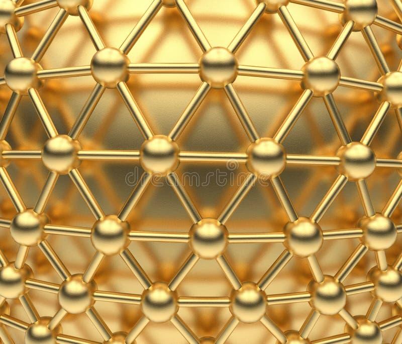 金黄网络概念-球形 皇族释放例证