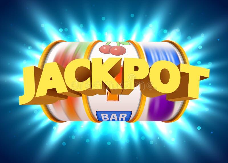 金黄老虎机赢取困境 大胜利概念 赌博娱乐场困境 向量例证