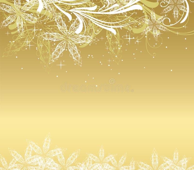 金黄背景的圣诞节 皇族释放例证