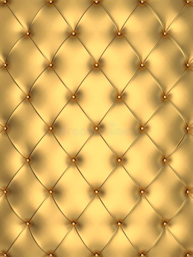 金黄背景的魅力 库存例证