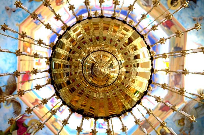金黄色的圆顶教会 免版税图库摄影