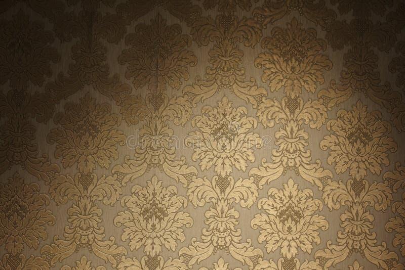 金黄葡萄酒墙纸 免版税库存图片