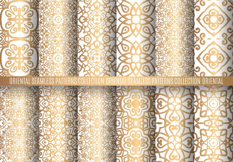 金黄蔓藤花纹样式 库存例证