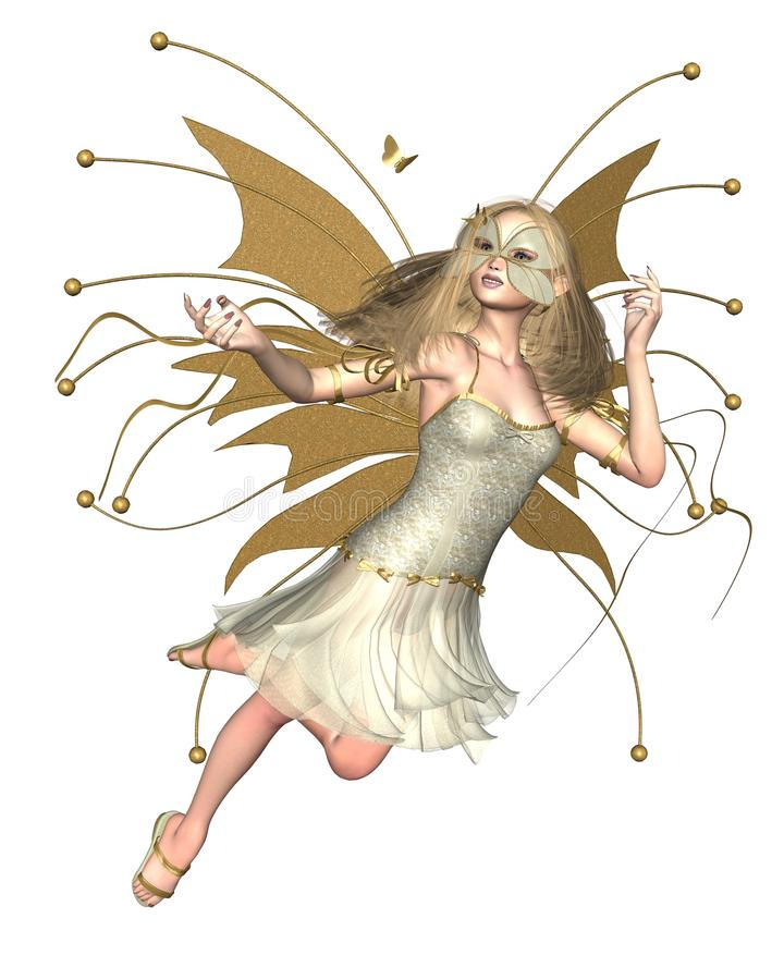 金黄蝴蝶的神仙 库存例证