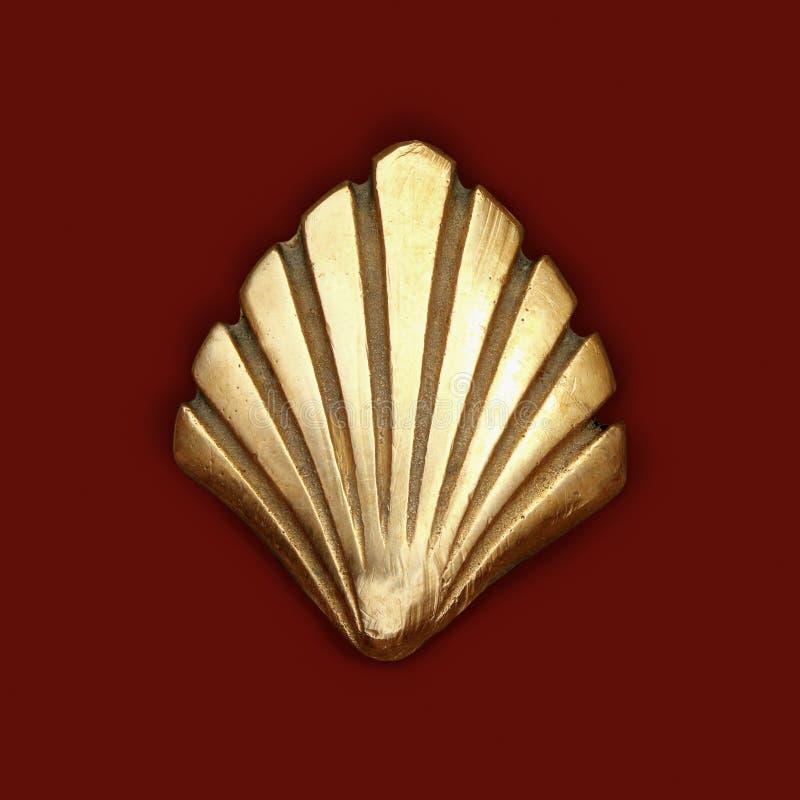 金黄詹姆斯金属圣徒壳符号方式 免版税图库摄影