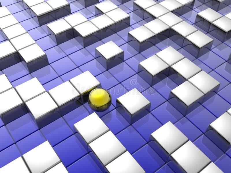 金黄迷宫范围 向量例证