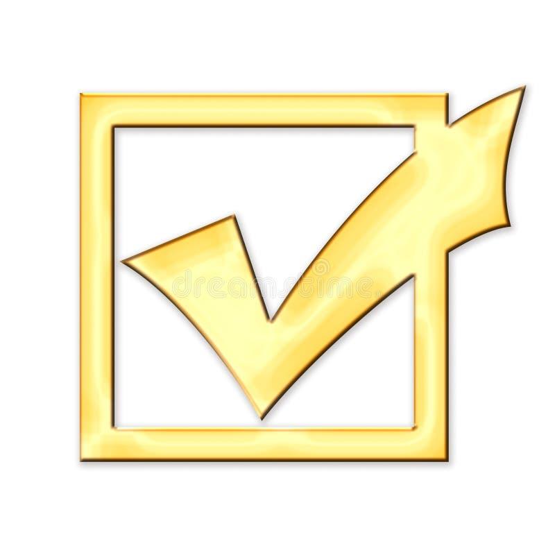 金黄配件箱的检查 库存例证