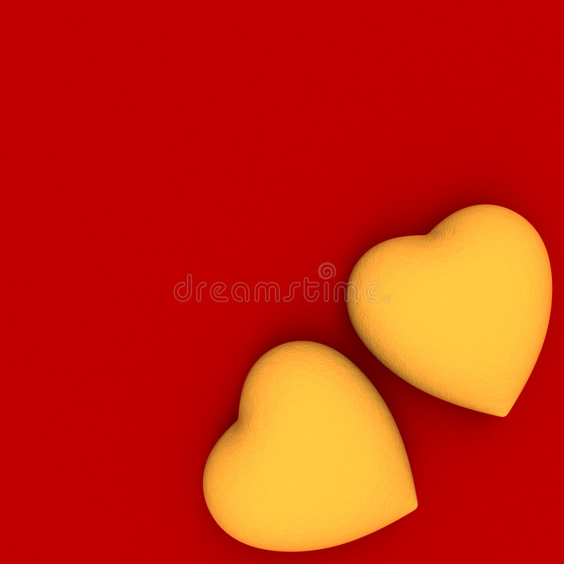 金黄重点红色二 免版税库存图片
