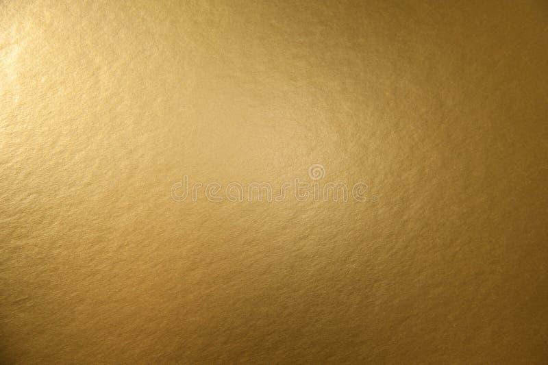 金黄金属背景纹理  免版税库存图片