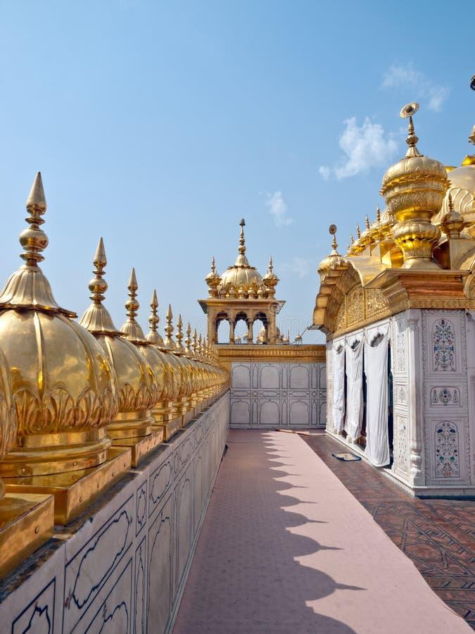金黄锡克教徒的寺庙 库存图片