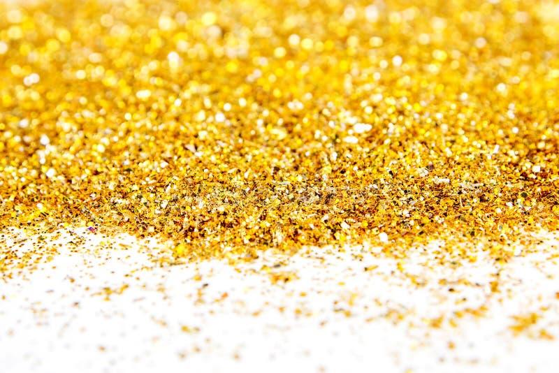金黄闪烁的织地不很细背景 库存照片