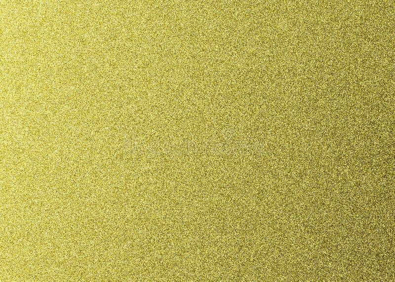 金黄闪烁纹理背景 设计的金属纸 图库摄影