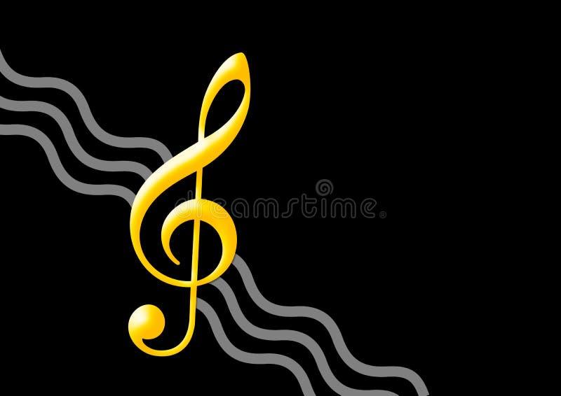 金黄音乐附注 向量例证