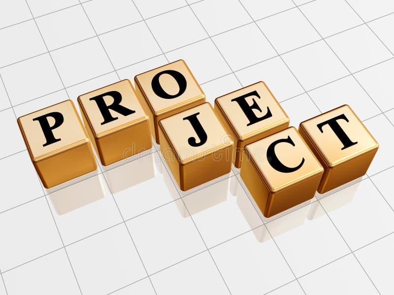 金黄项目 向量例证