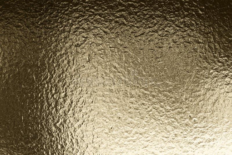 金黄颜色金属起波纹的背景 抽象金属纹理 3d?? 库存照片