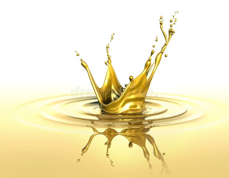 金黄飞溅 向量例证