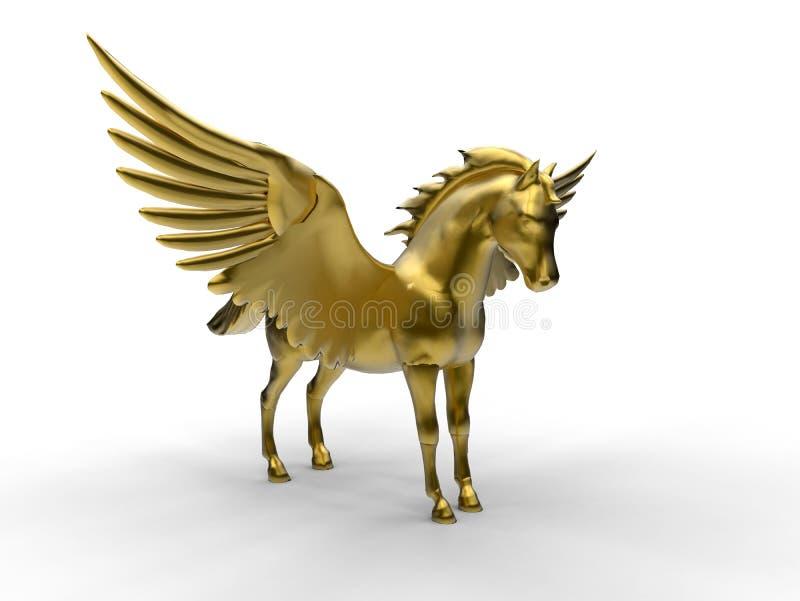 金黄飞过的马例证 库存例证