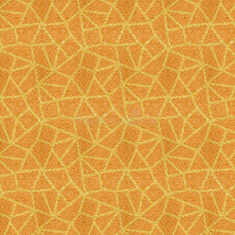 金黄黄色织地不很细多角形重复的样式 向量例证