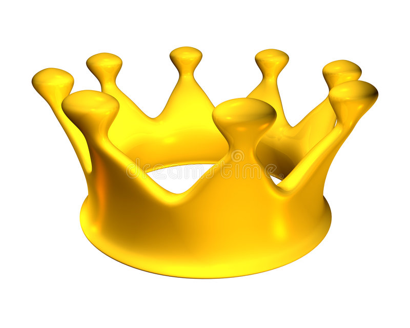 金黄c的冠 向量例证