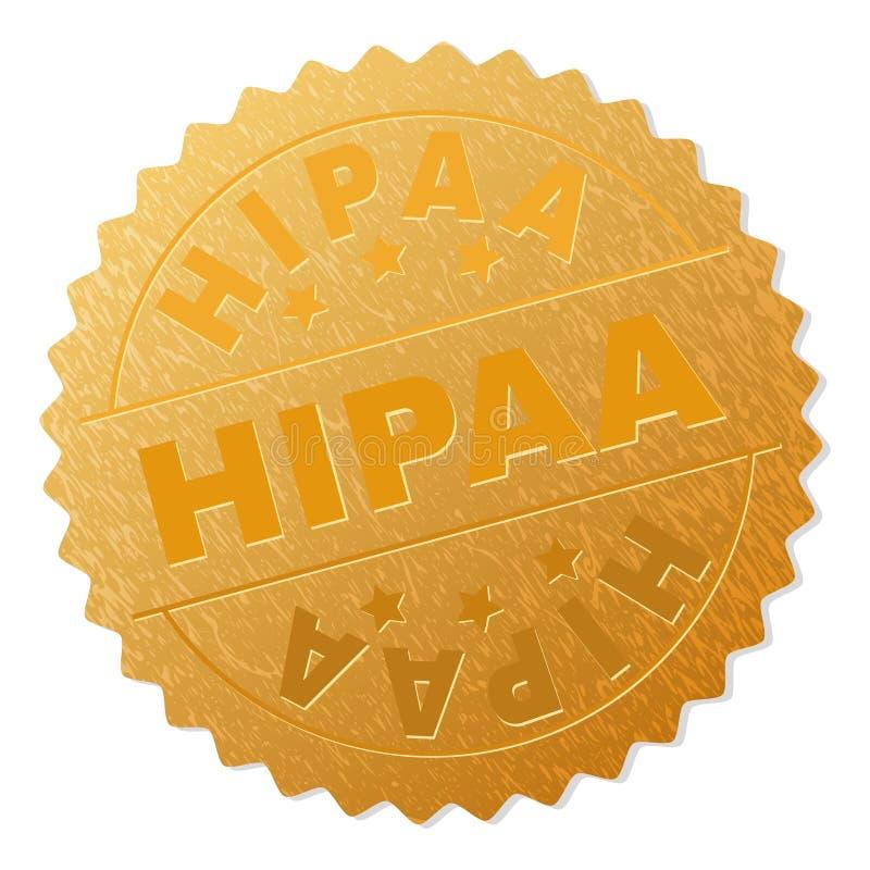 金黄HIPAA奖牌邮票 库存例证