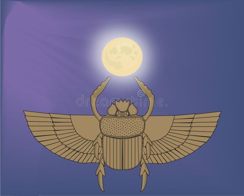 金龟子和月亮 皇族释放例证