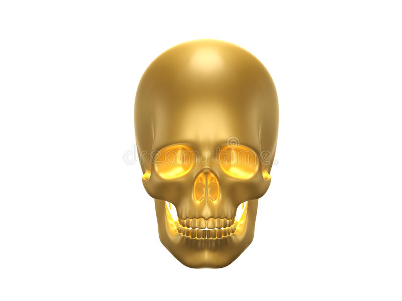 金黄人的skul 皇族释放例证