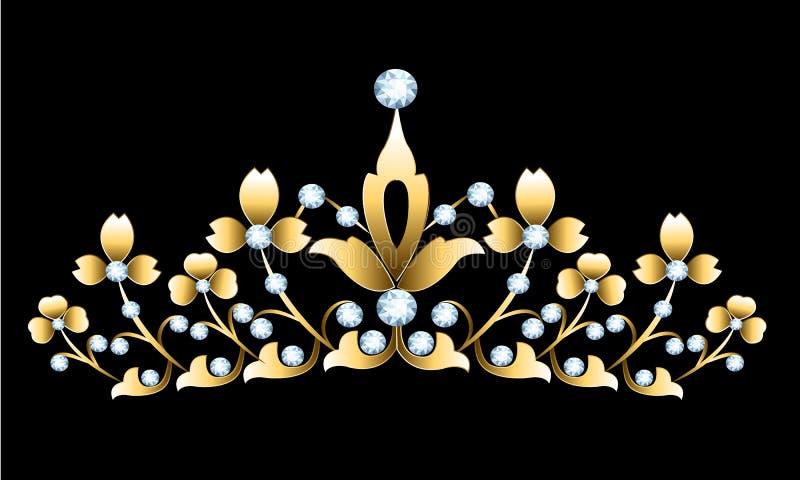 金黄冠状头饰 皇族释放例证