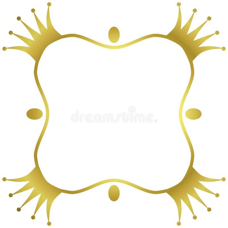 金黄冠边界框架 库存例证