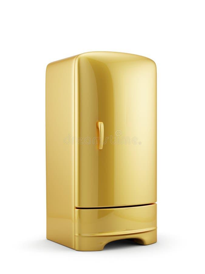 金黄冰箱 库存例证