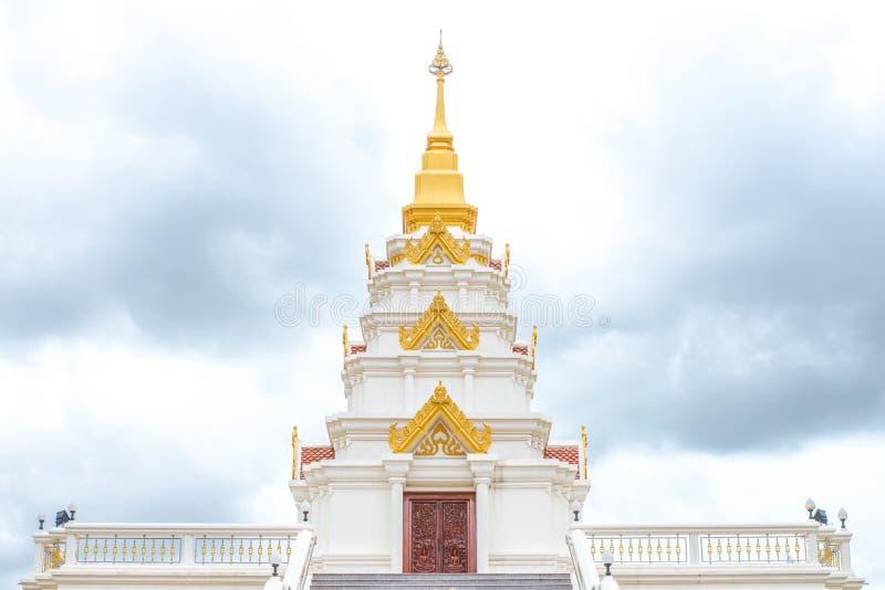 金黄和白色寺庙 库存照片