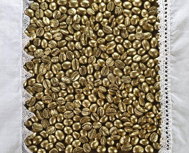 金黄咖啡 库存照片