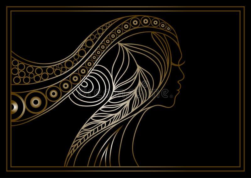 金黄妇女2 皇族释放例证