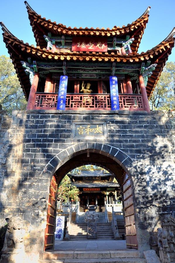 金黄寺庙 免版税库存图片