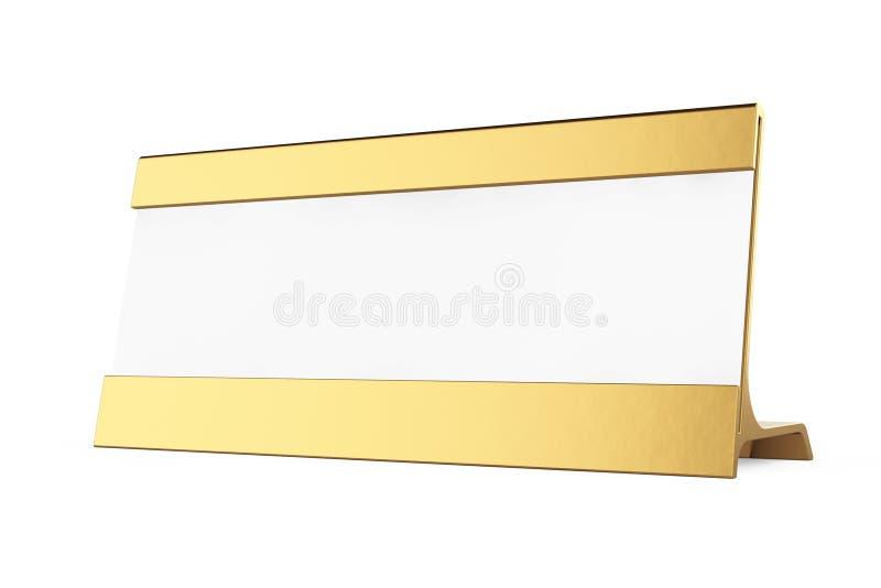 金黄水平的雏型模转台卡片标记 3d翻译 库存例证