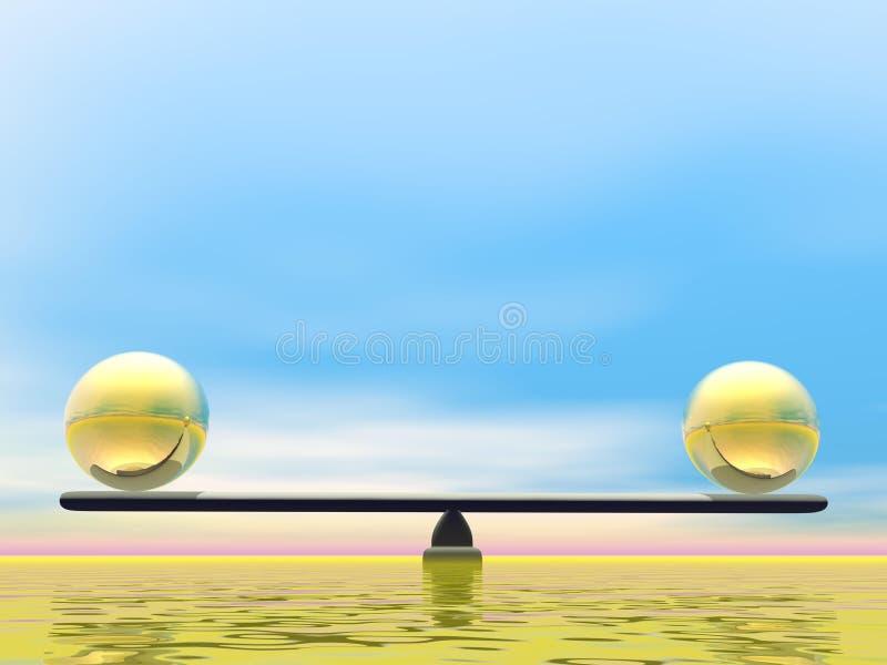 金黄平衡- 3D回报 向量例证