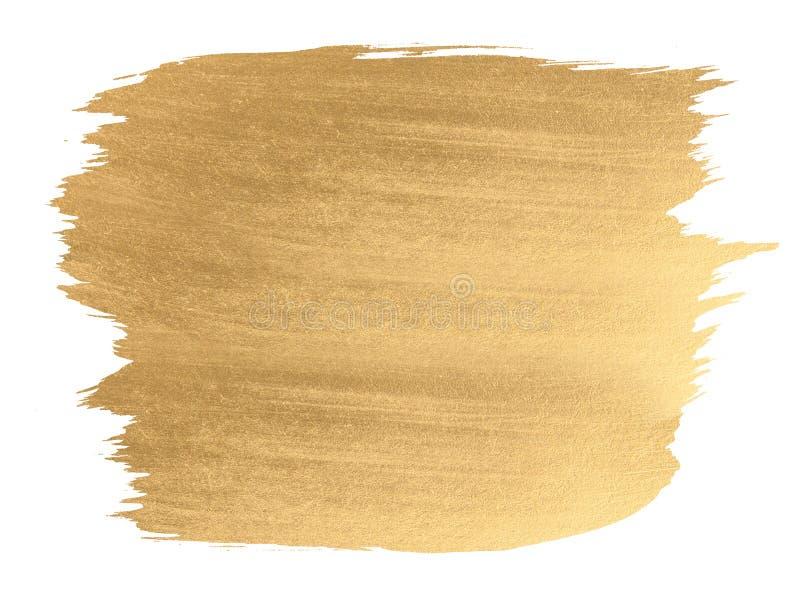 金水彩纹理刷子冲程 免版税库存照片