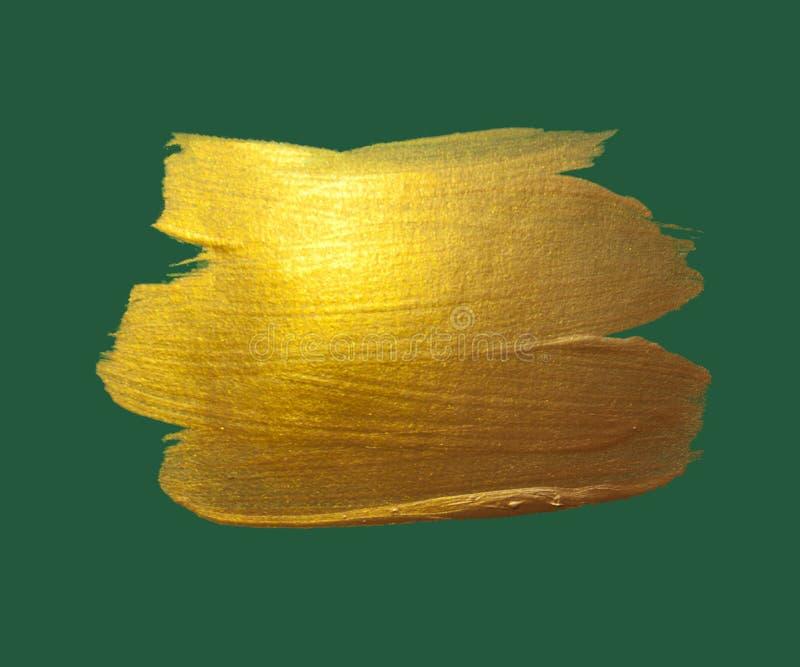 金水彩纹理油漆污点摘要 免版税库存照片