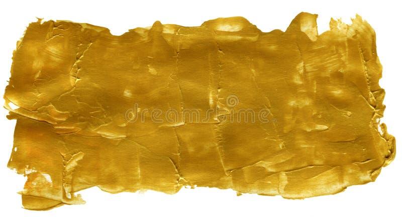 金黄抽象丙烯酸酯被绘的背景 免版税库存图片