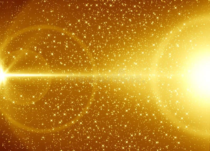 金黄抽象背景 皇族释放例证