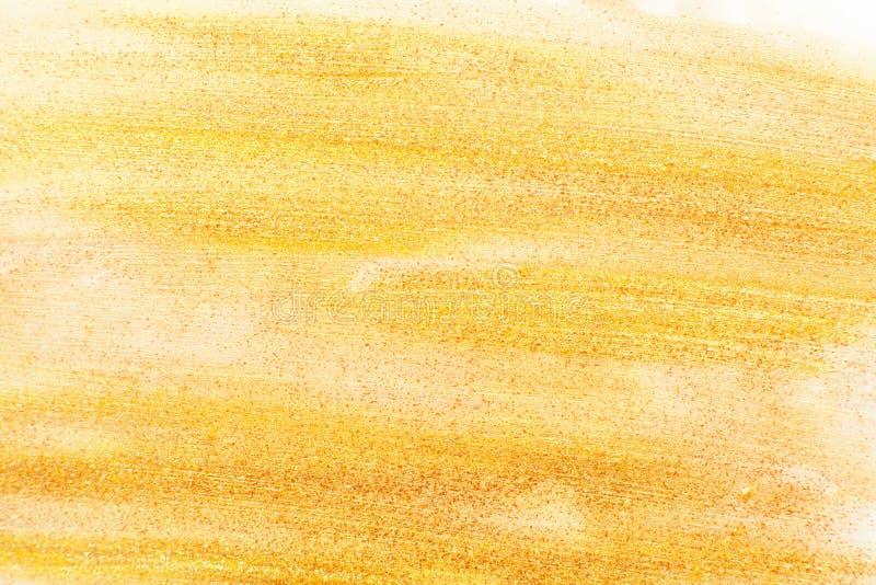 金黄指甲油纹理自由空间 库存照片