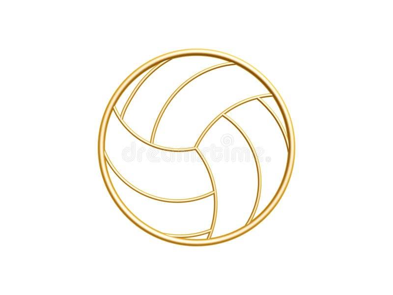 金黄排球标志 库存图片