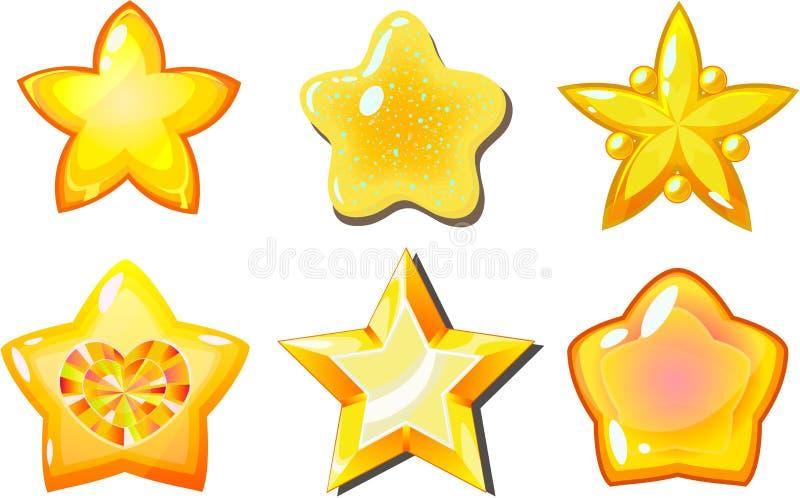 金黄星形 库存例证