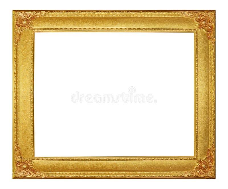金黄框架现代葡萄酒 免版税库存图片