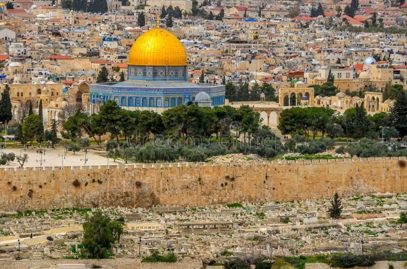金黄清真寺在耶路撒冷,以色列 库存照片