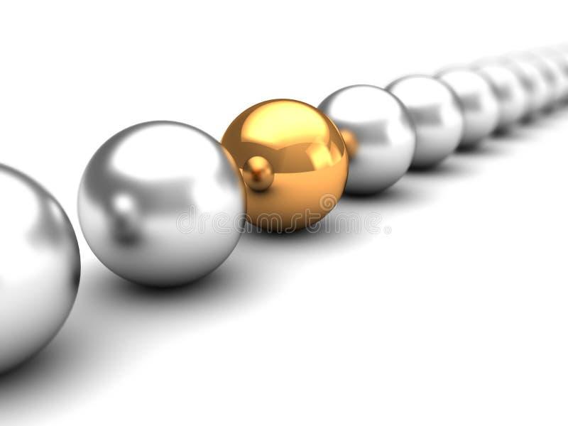 金黄球形和许多其他 库存例证
