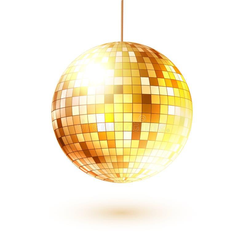 金黄球的迪斯科 向量例证