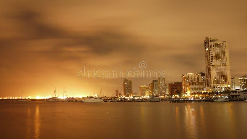 金黄的城市 库存照片