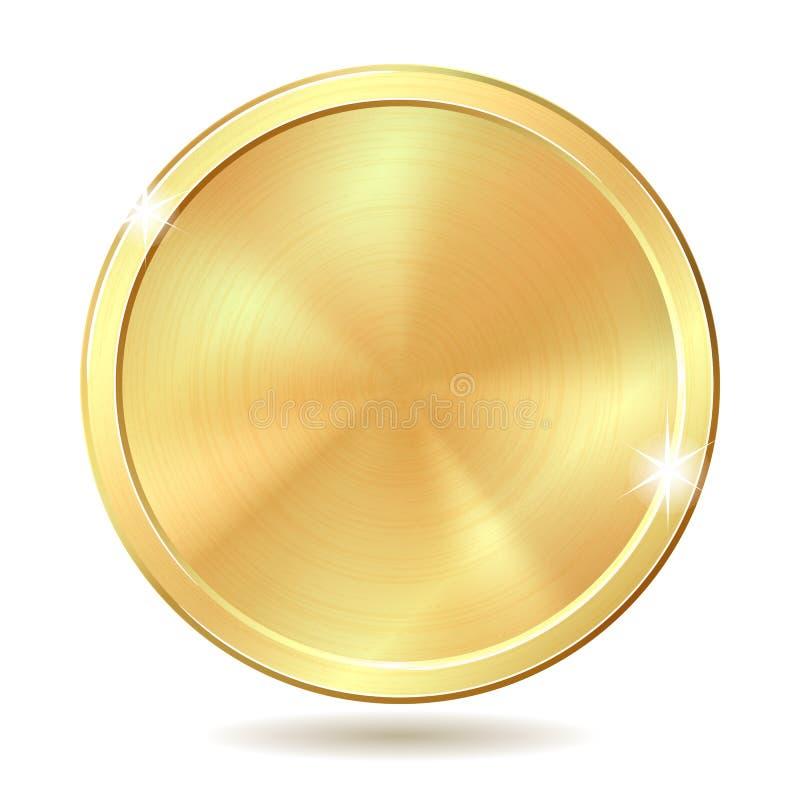 金黄的硬币 皇族释放例证